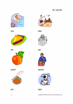 St Sp Sk Words With Pictures Beginnings Of Words Commtap