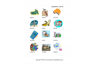 Polysyllable words with pictures